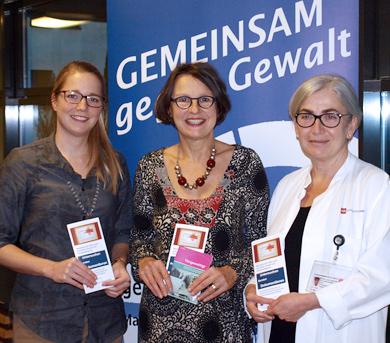 v.l.n.r.: Dr. Cleo Pickhard, Anette Diehl, Dr. Doris Macchiella