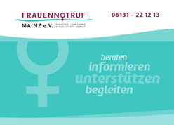Cover des Flyers vom Frauennotruf Mainz'