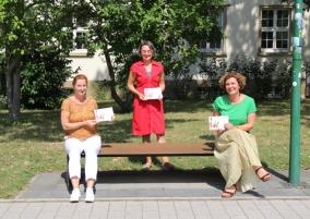 Sabine Weis (ZWW), Anette Diehl (Frauennotruf Mainz) und Anouschka Erny-Eirund (Gleichstellungsbeauftragte der Unimedizin Mainz)